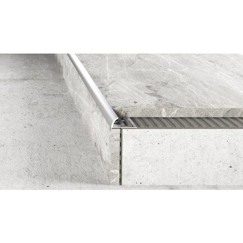 Alumínium íves élvédő - 6 mm eloxált ezüst