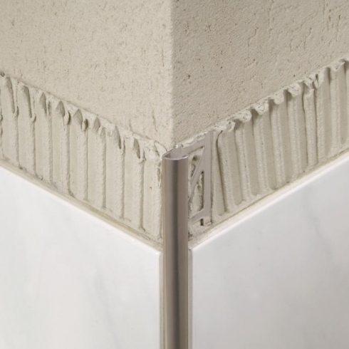 Blanke Alumínium íves zárt élvédő végzáró - 8 mm eloxált arany