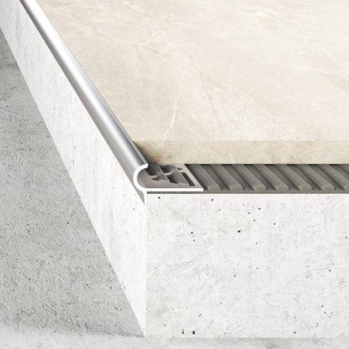 Alumínium lépcső élvédő A80 natúr - 2500x10 mm