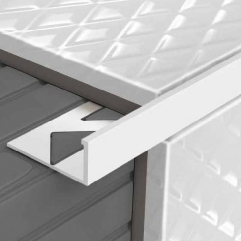 Alumínium L élvédő - 2500x10 mm szinterezett fehér