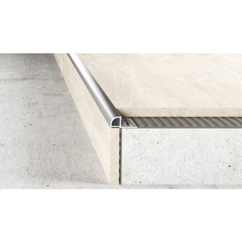 Burkolatváltó profil A83 eloxált ezüst - 2500x10 mm