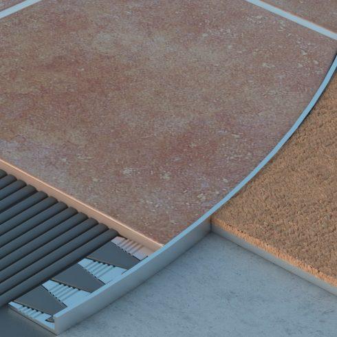 Hajlítható  L  élvédő - 3000x10 mm eloxált arany