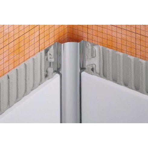 Schlüter DILEX-EHK - U=9 mm O=9 mm L=2500 mm nemesacél sarokprofil