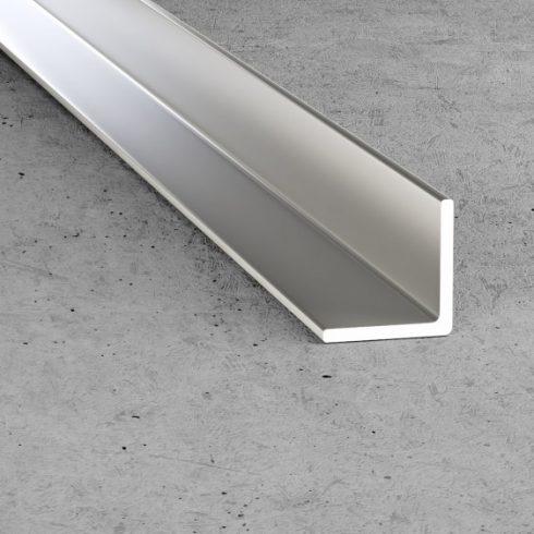 B12 Derékszög profil - alumínium, ezüst 15x15x1,5 mm
