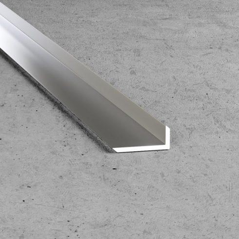 B24 Derékszög profil - alumínium, ezüst 20x8x1,5 mm