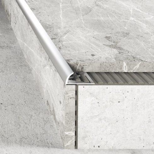 Alumínium íves élvédő - 8 mm eloxált titán