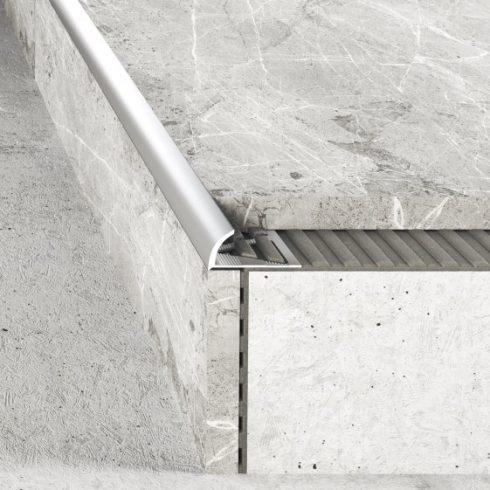 Alumínium íves élvédő - 12 mm polírozott