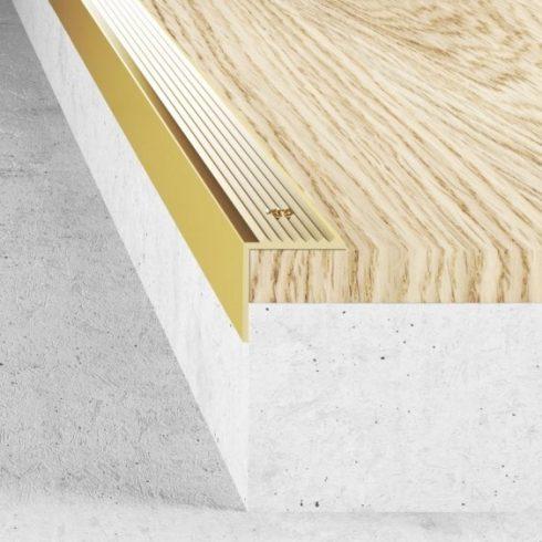 Alumínium lépcső élvédő A30 - 20x19,5 mm - több méretben és színben