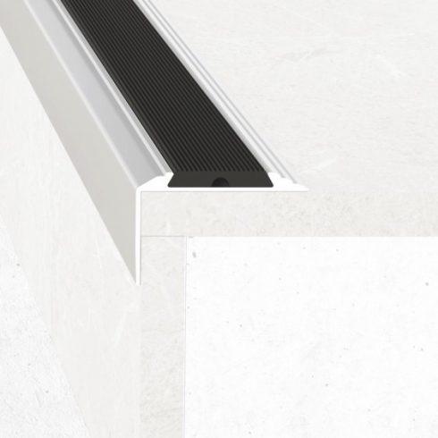 Alumínium lépcső élvédő A38 gumi betéttel - 50x30 mm - több színben és méretben
