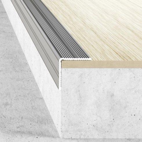 Alumínium lépcső élvédő A40 - 25x25 mm - több színben és méretben