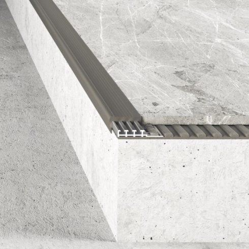 Alumínium lépcső élvédő A97+A98 - 10 mm - többféle színben
